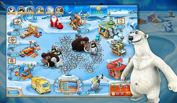 在疯狂农场3冰封世界mac版游戏中像滚雪球一样通过层层寒冷的关卡.
