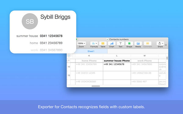 Exporter for Contacts