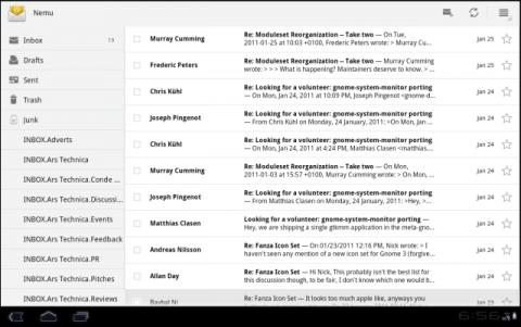Google Android 3.0蜂巢用户界面剖析