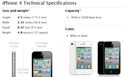 更厚, iPhone 4 实测白色版比黑色版厚 0.2 毫米