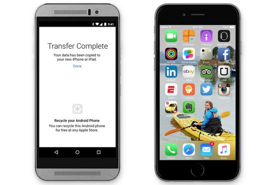 苹果发布安卓App:安卓迁移数据至iOS