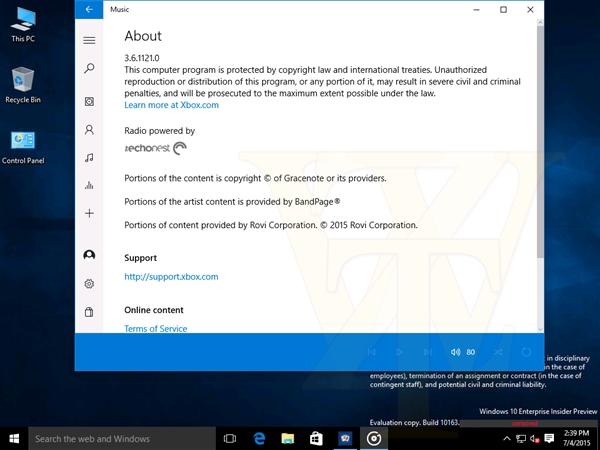 最终版Win10 Build 10163截图曝光