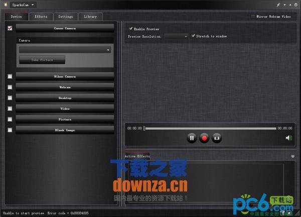 电脑摄像头增强软件(SparkoCam)