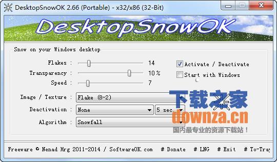DesktopSnowOK(2011圣诞节雪花星星气泡效果)