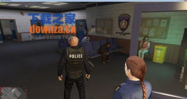 GTA5pc版真实警察身份MOD