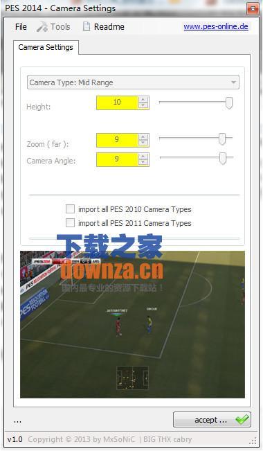 实况足球2014视角设置工具