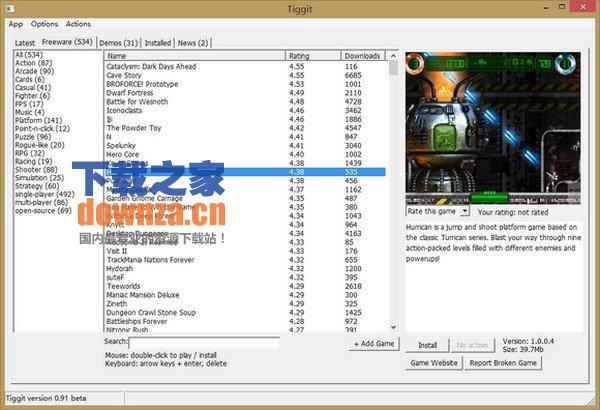 独立游戏下载工具Tiggit