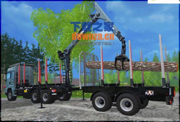 模拟农场15木材拖车MOD