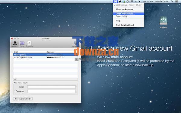 BackUp Gmail for mac