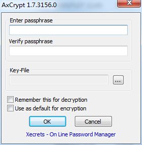 AxCrypt数据加密软件