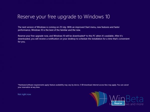 微软为让用户升级Win10也是拼了