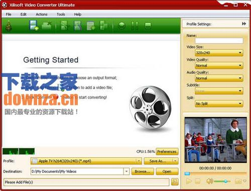 高速全能视频转换器 Xilisoft Video Converter Ultimate