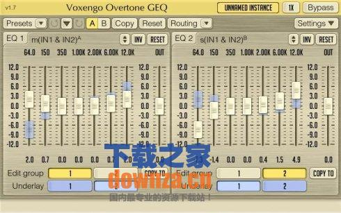 7波段波形调谐器Voxengo Overtone GEQ