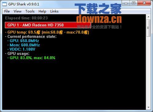 GPU Shark(监视显卡温度)