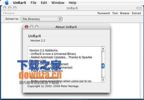 mac解压缩工具(unRarX)