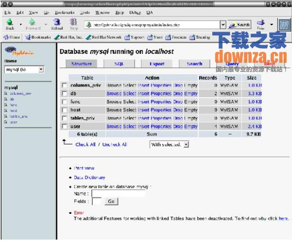 phpMyAdmin(MySQL数据库管理)