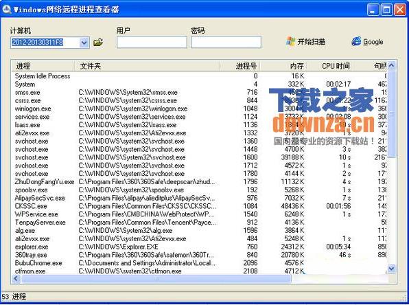 windows网络远程进程查看器