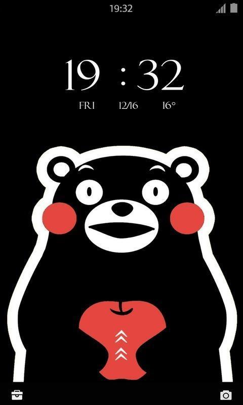熊本和颜文字锁屏