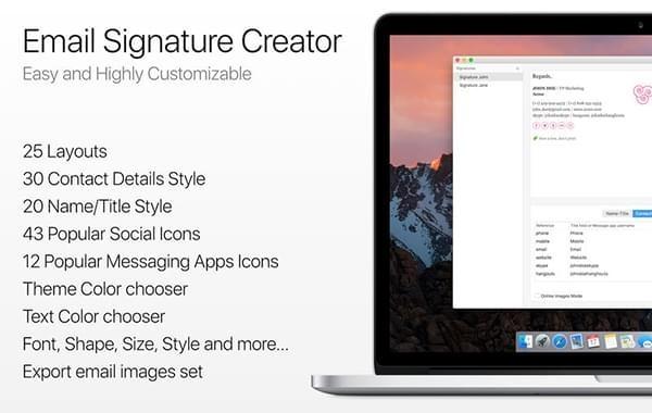 Email Signature Creator截图