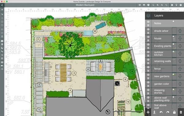 家庭外景景觀設計截圖