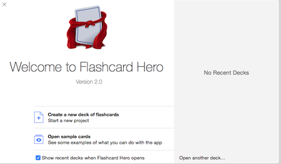 Flashcard Hero for mac截图