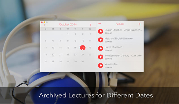 Record Lectures for mac截图